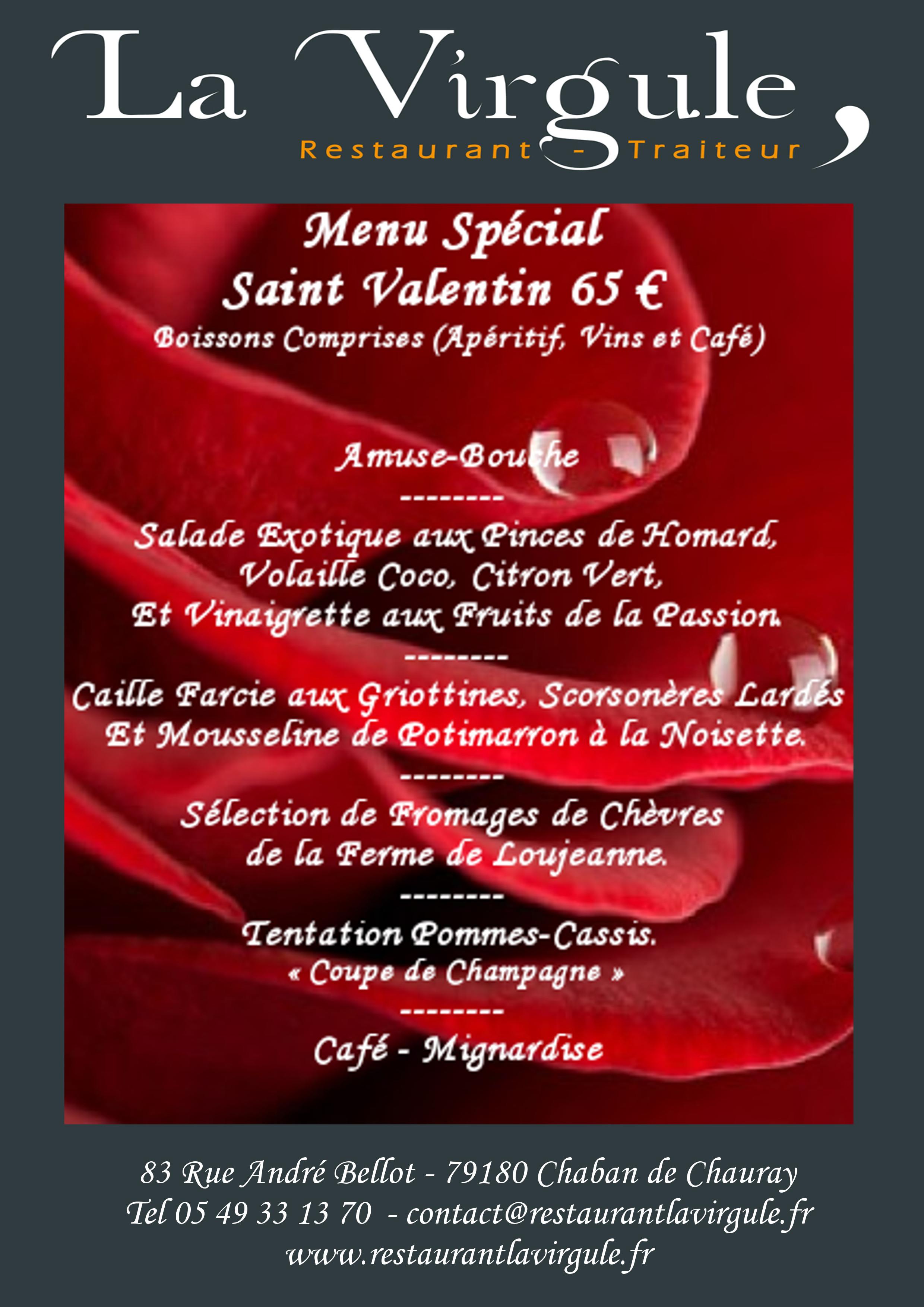 Saint valentin 2017 restaurant la virgule - La saint valentin 2017 ...